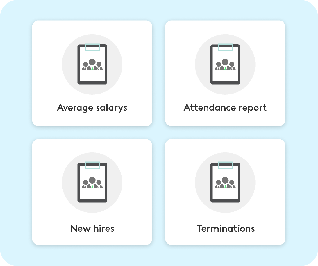 analytics dashboards for the HR department with Kenjo