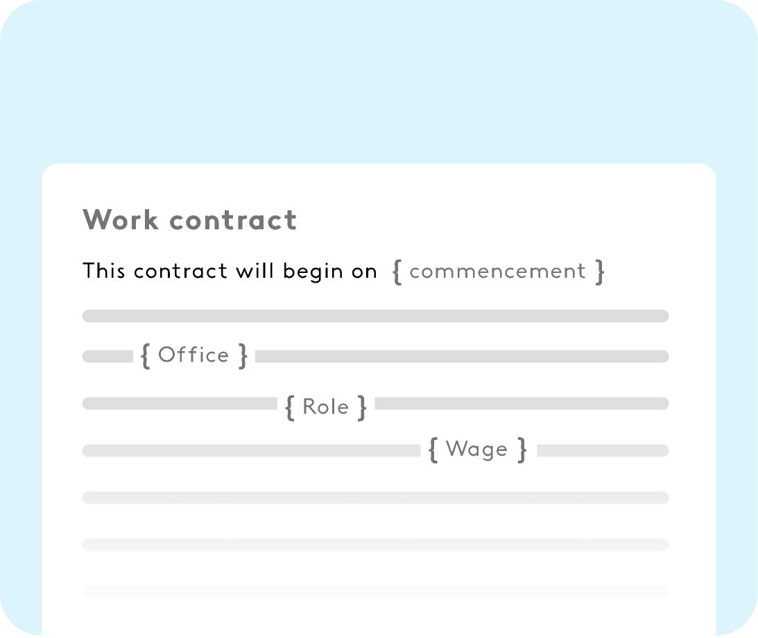 customisable templates for HR