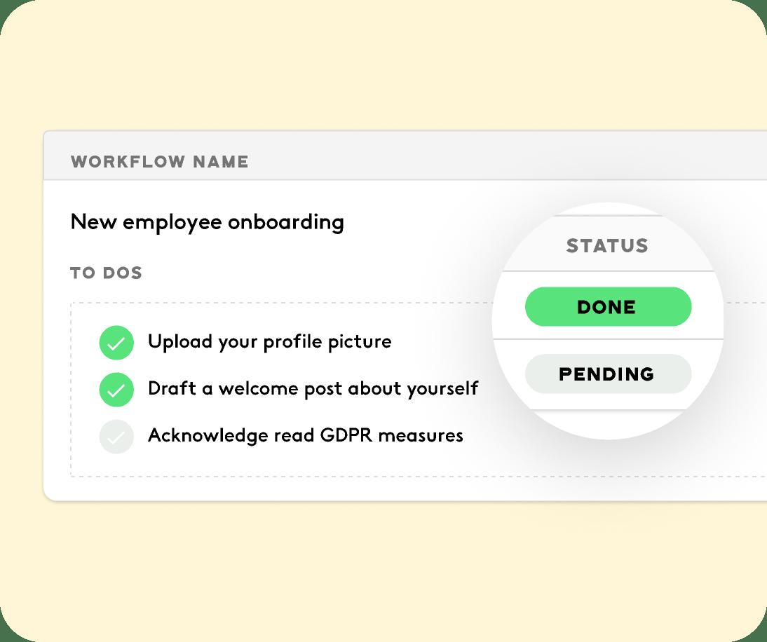 employee running workflows for the HR team