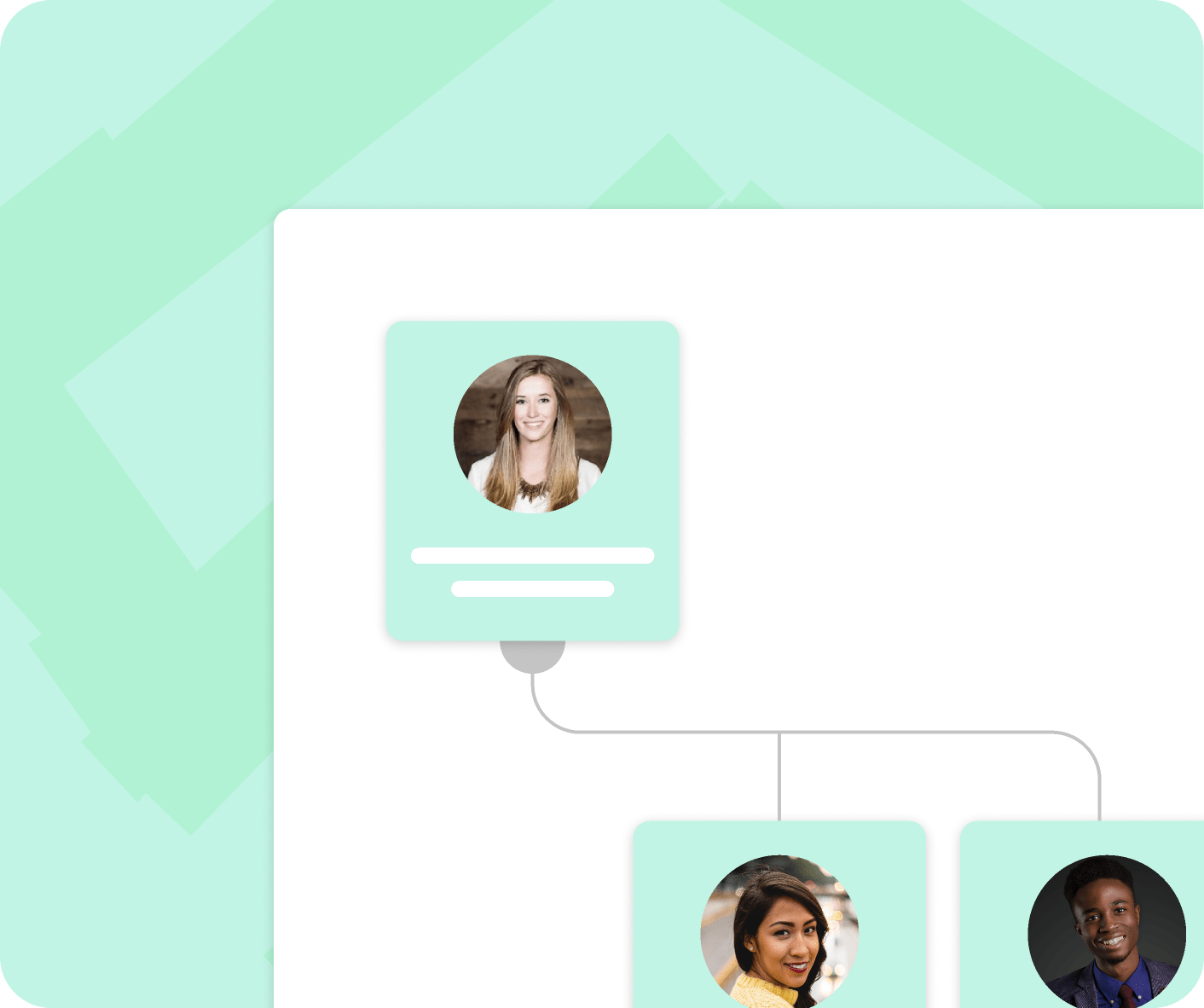 interfaz del software de organigramas de Kenjo