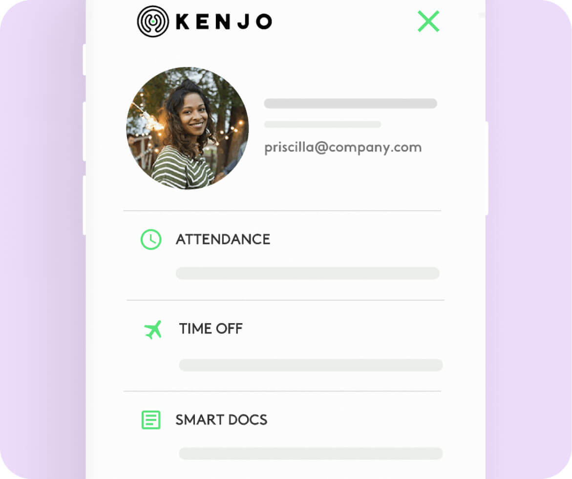 mobile app HR Kenjo