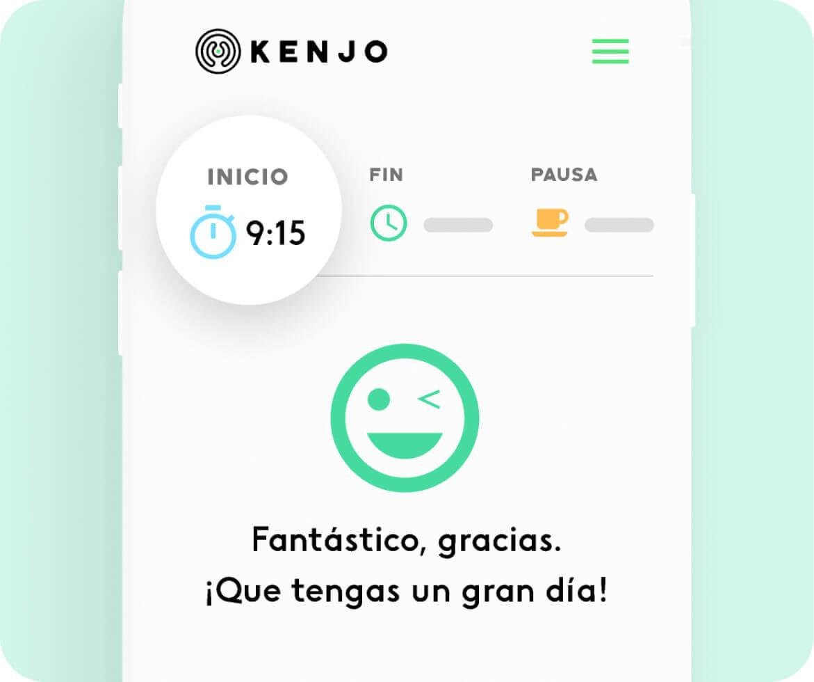 app de control horario de Kenjo