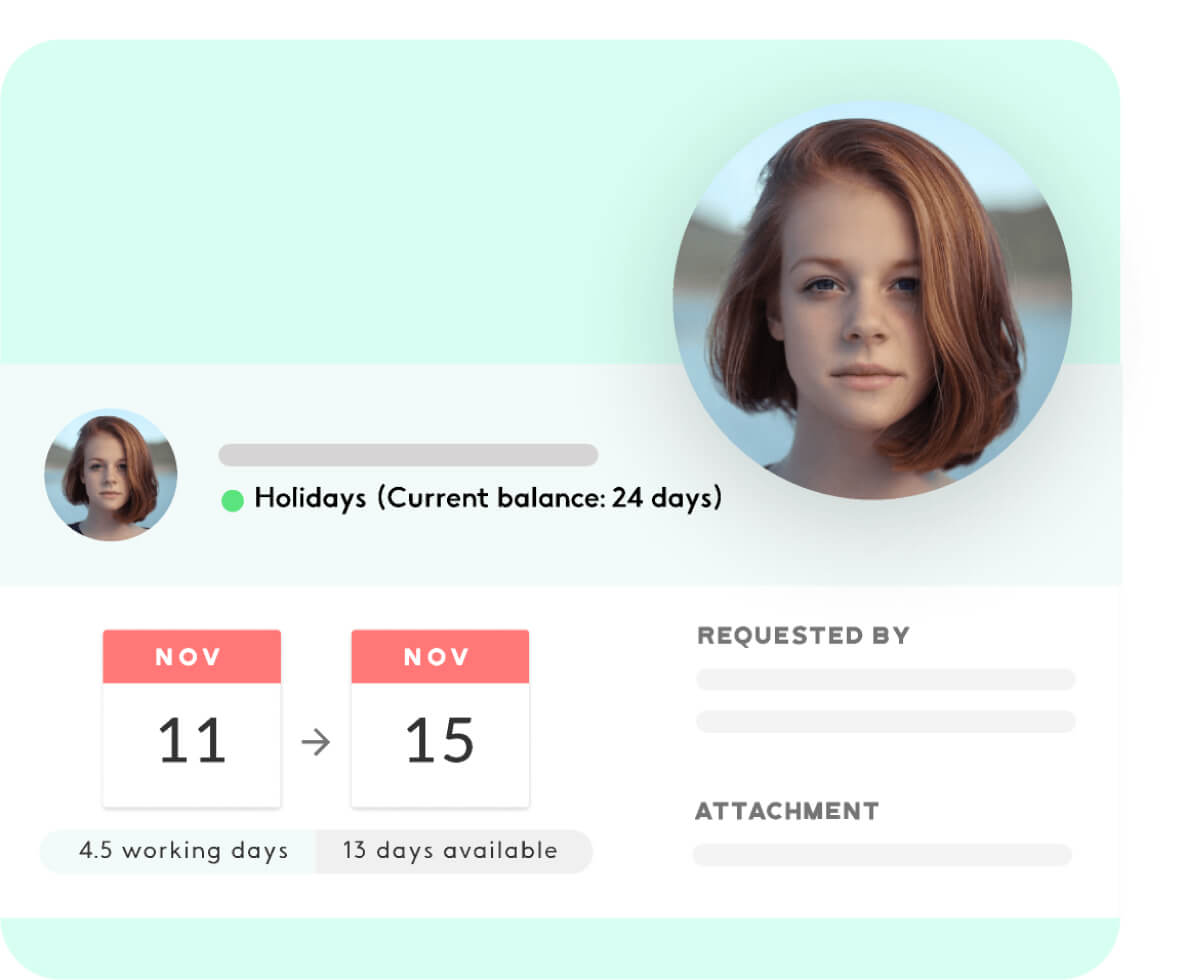review your employees' holidays