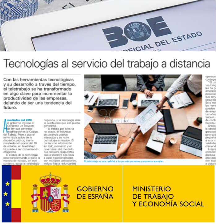 el gobierno español presenta la nueva ley de teletrabajo en España