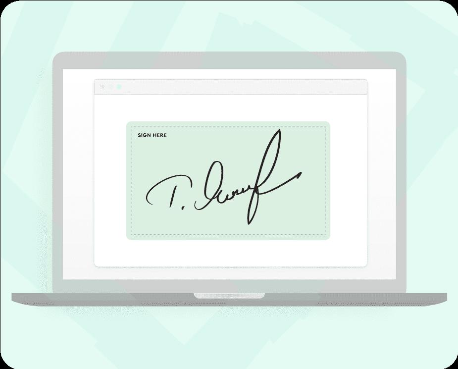 Kenjo electronic signature feature