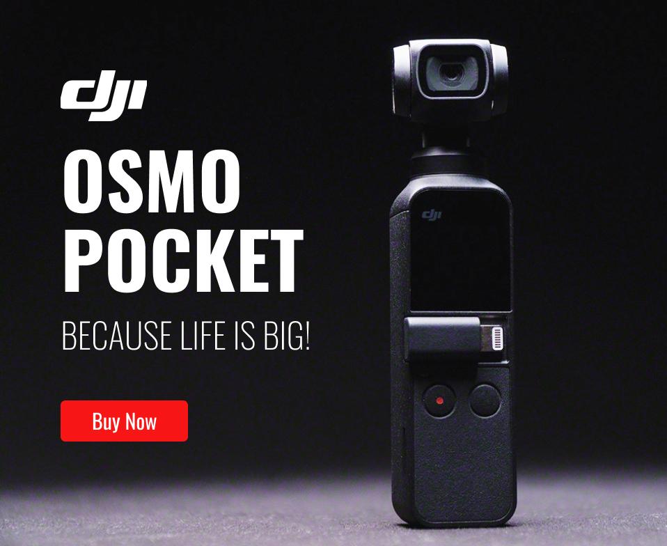 DJI Osmo Pocket vs GoPro Hero 7 Black Light Leak