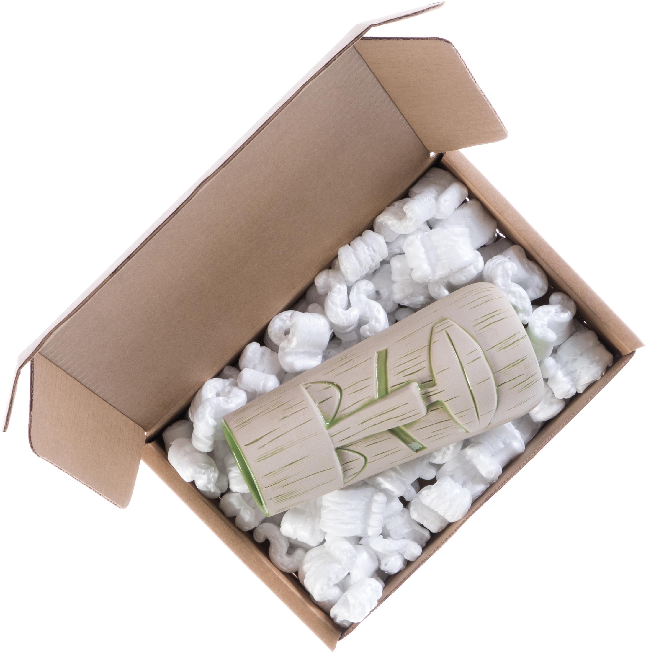 Shipping box with a tiki mug