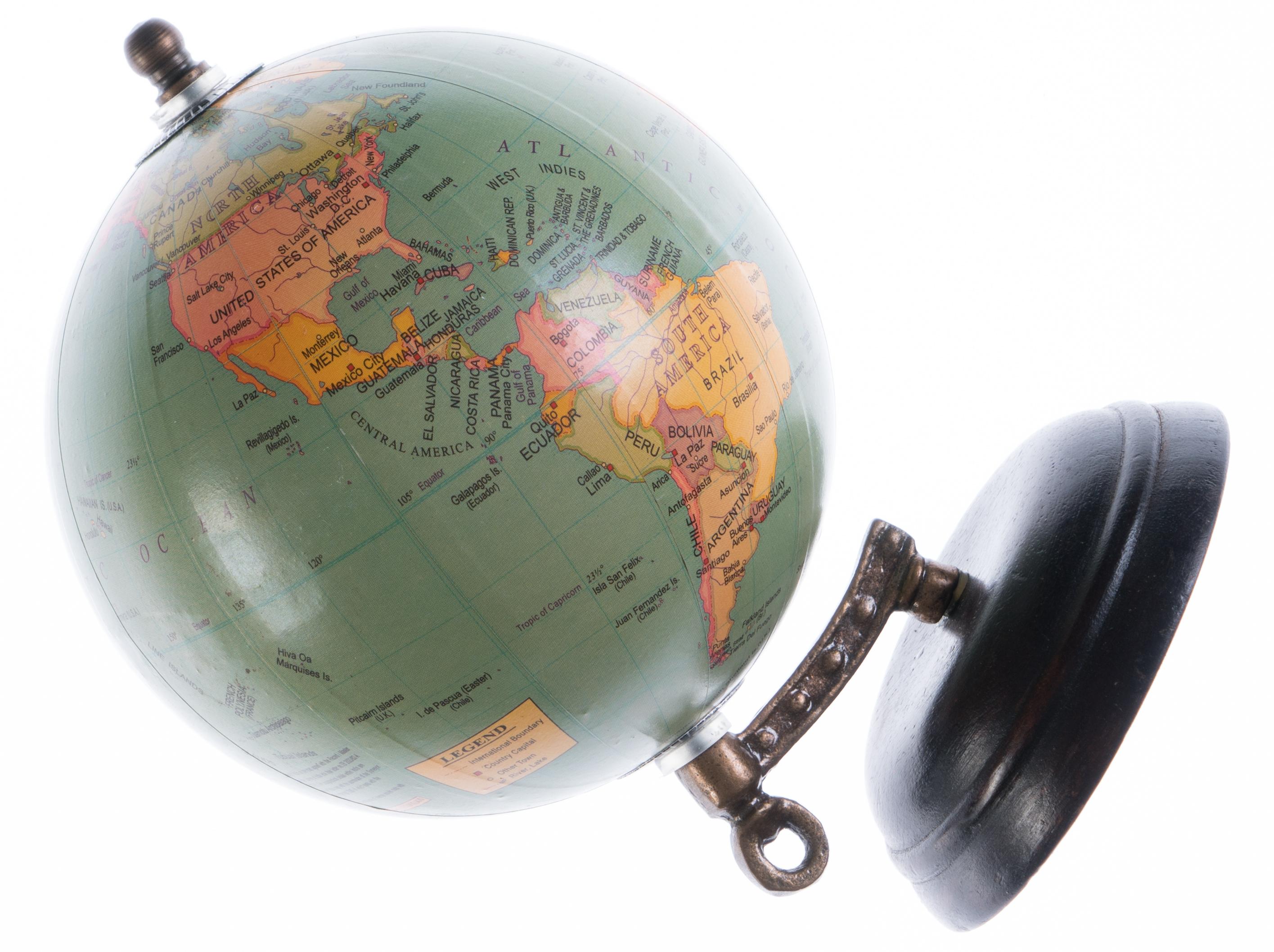 International shipping an antique globe