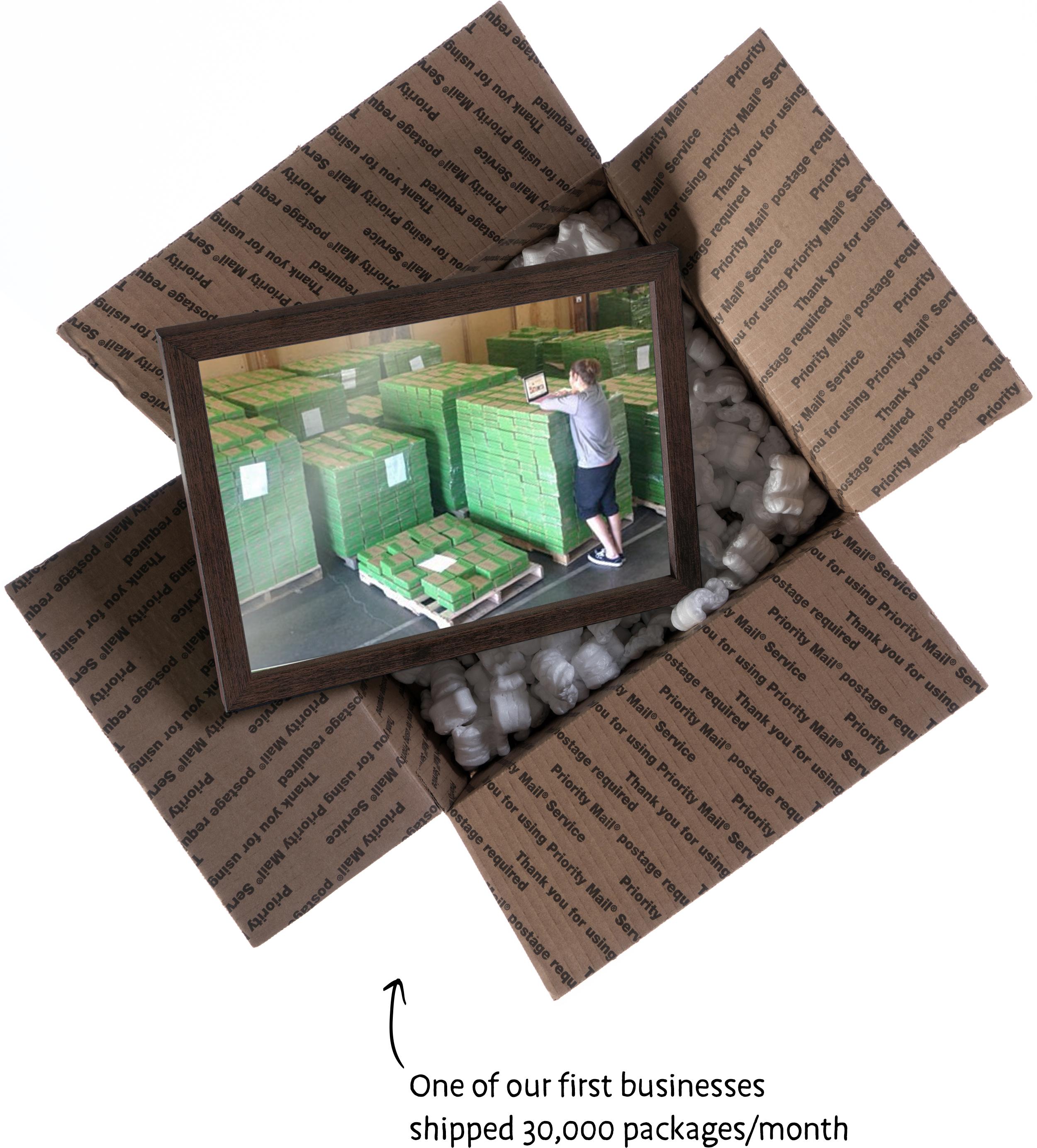 Subscription box shipping warehouse