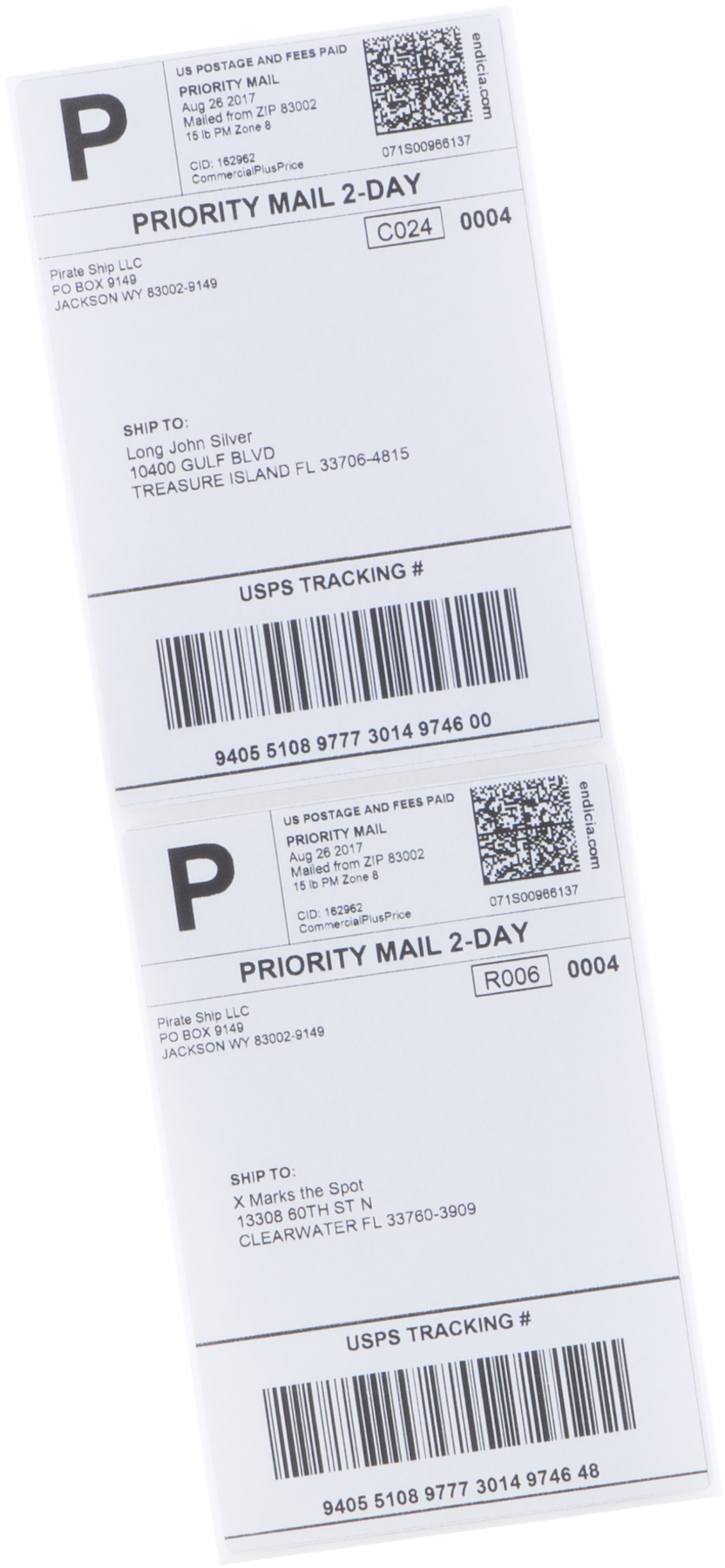 Priority Mail shipping labels