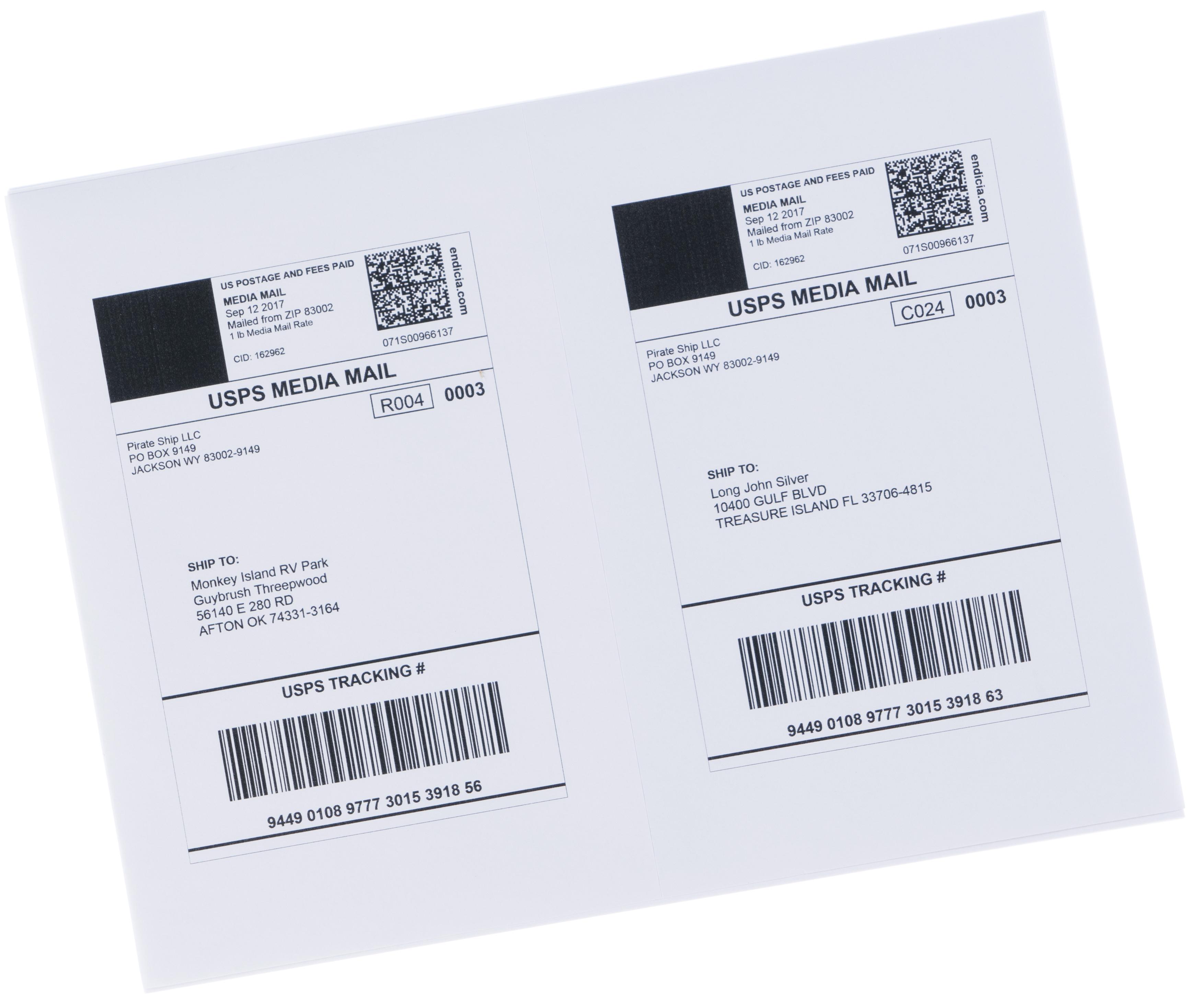 Media Mail postage labels