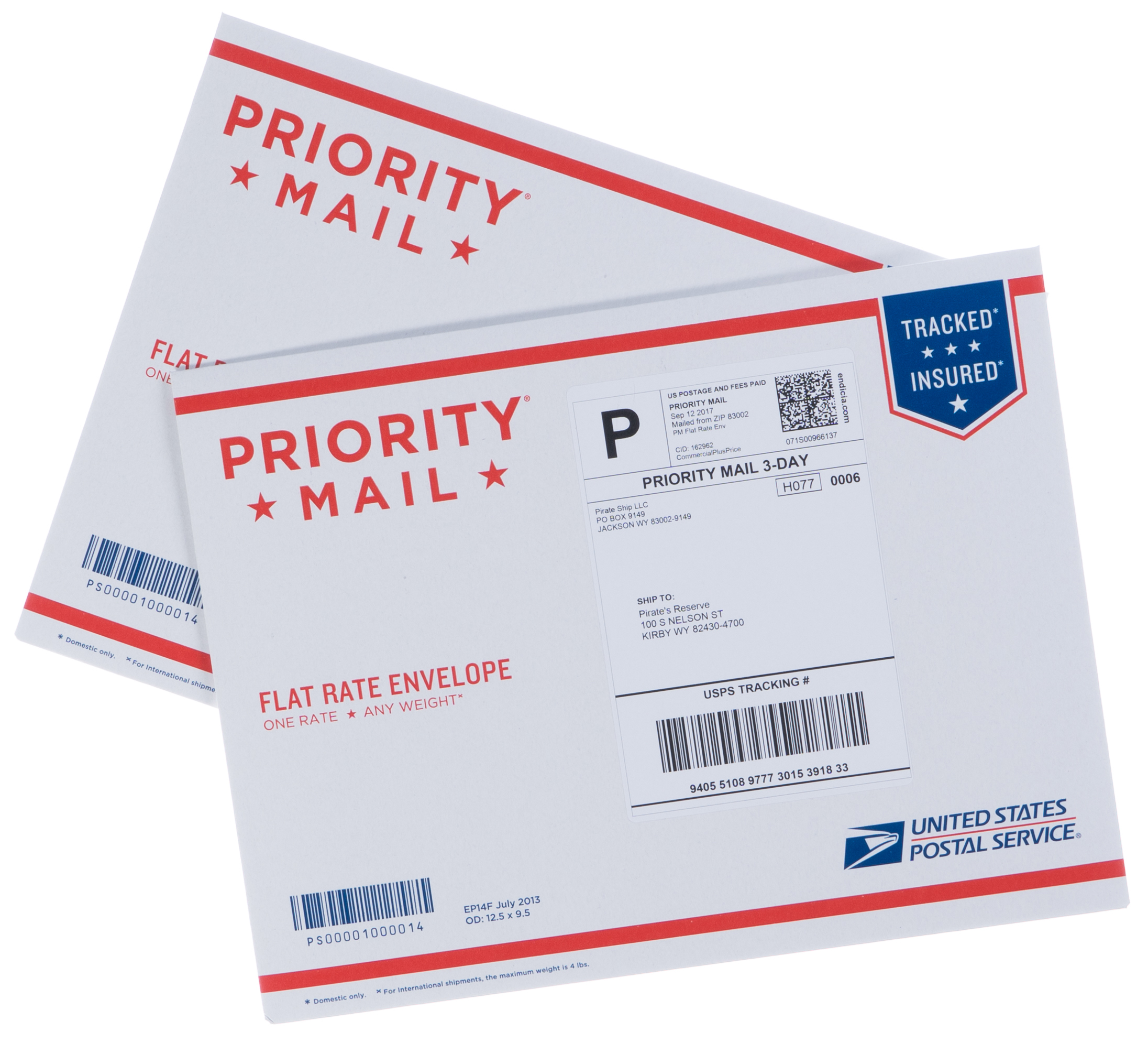USPS Priority Mail Flat Rate Envelopes