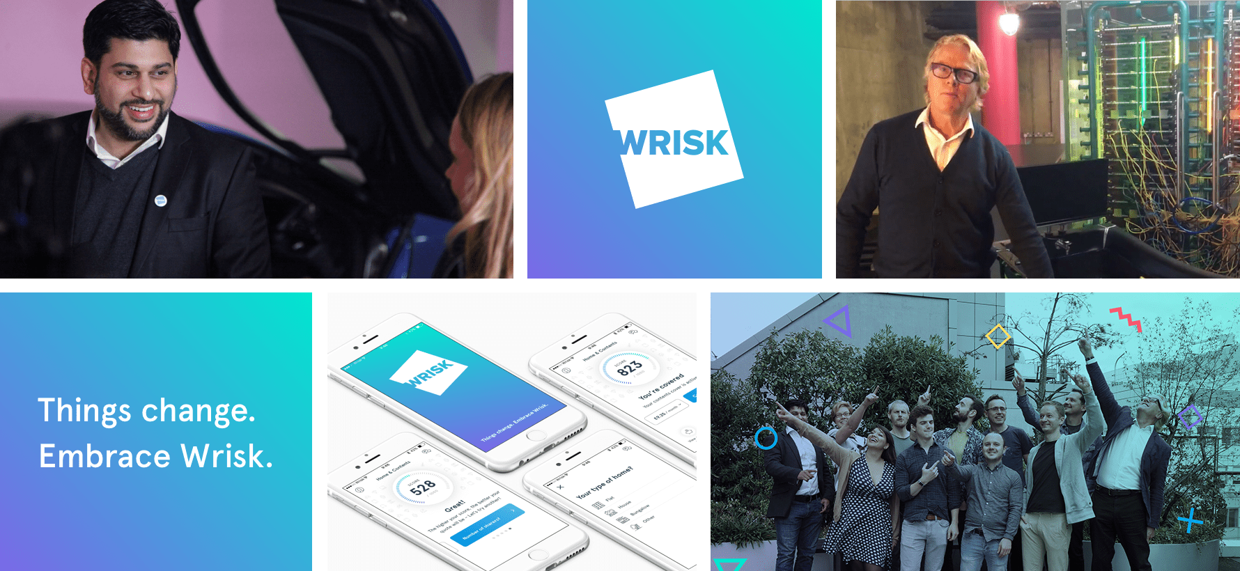 Image about the Wrisk team