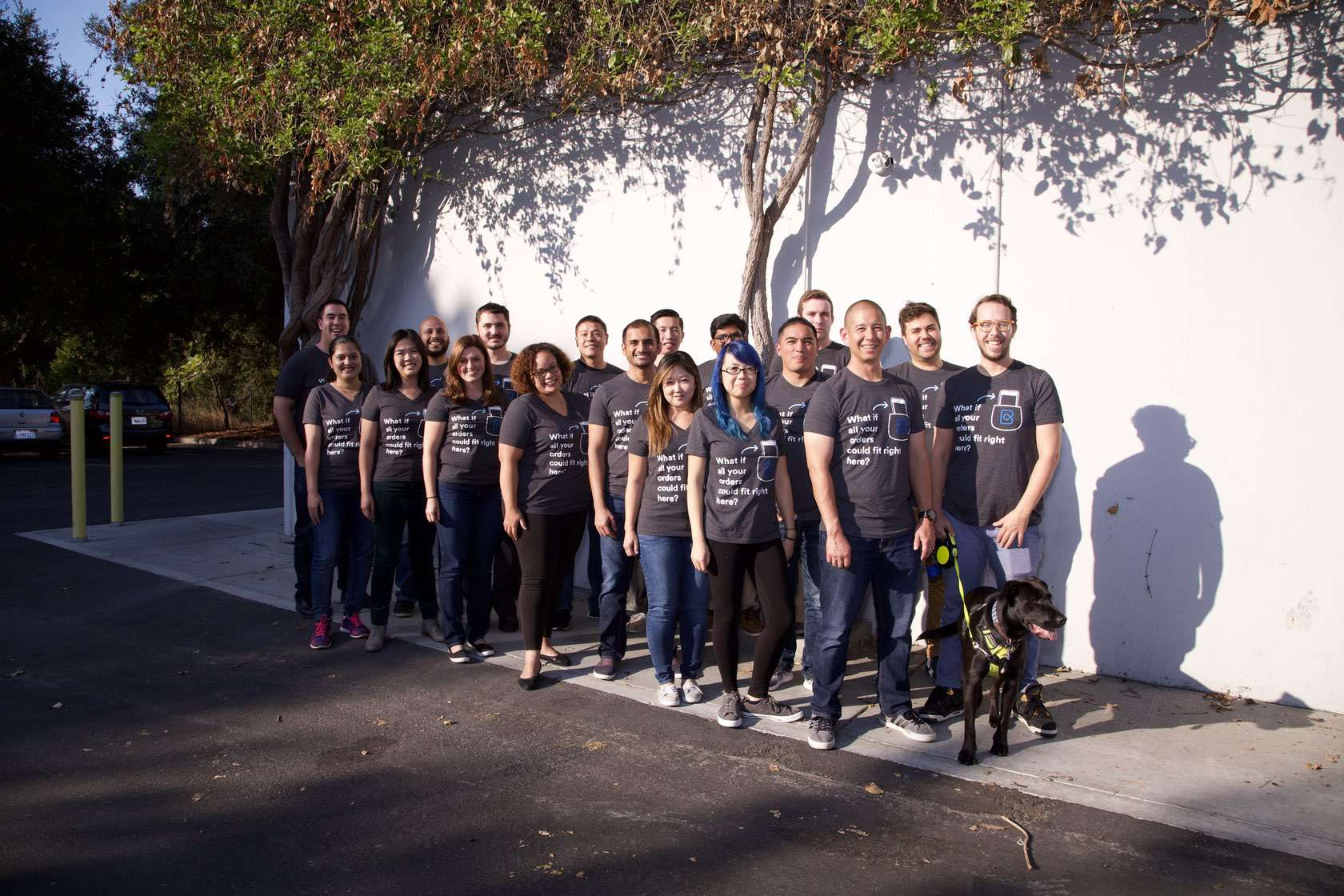 Photo of BlueCart's Mountain View team in front of the office