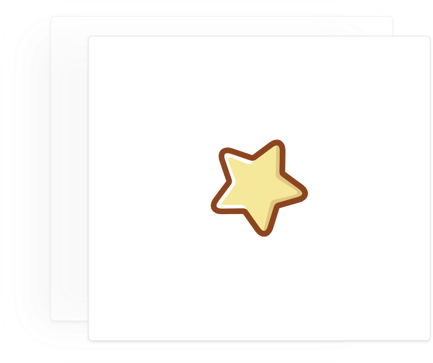 Card with an icon of a golden star