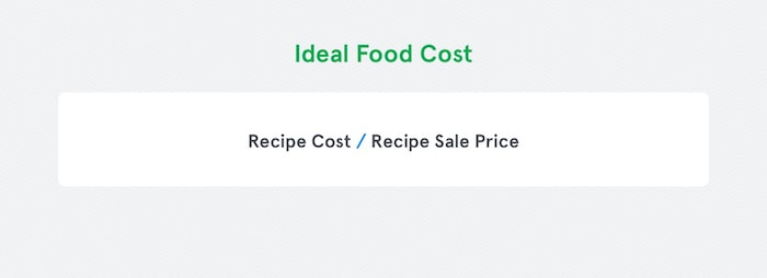 Ideal Food Cost