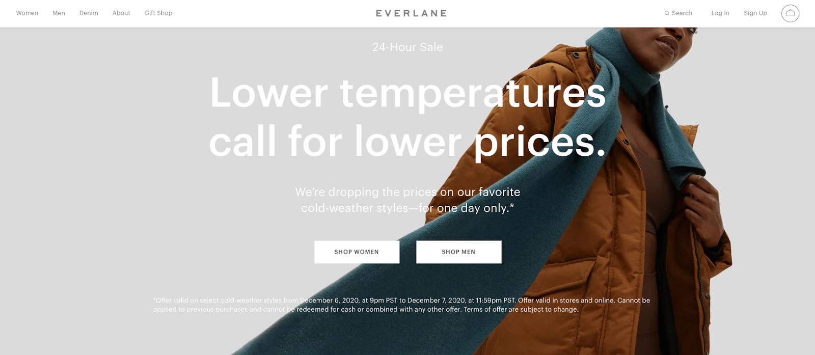 everlane homepage