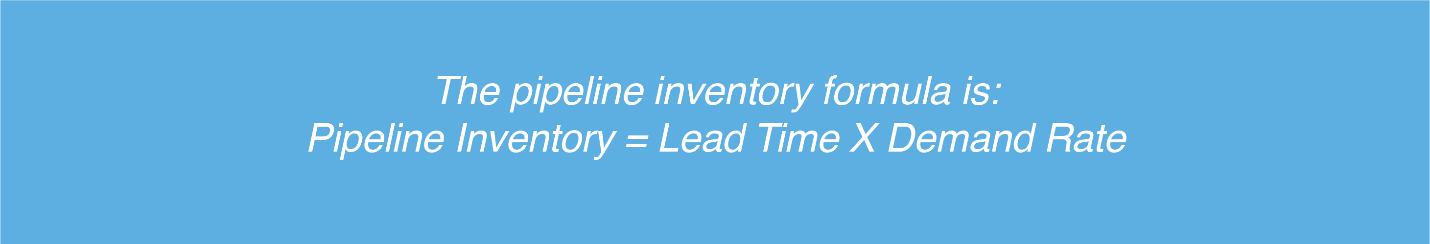 how to calculate pipeline inventory