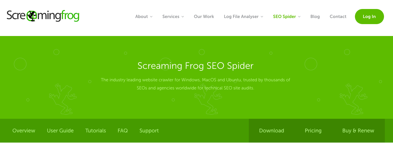 screaming frog ecommerce seo tool