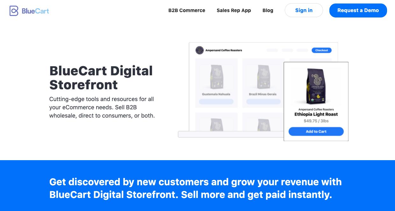 bluecart digital storefront ecommerce platform