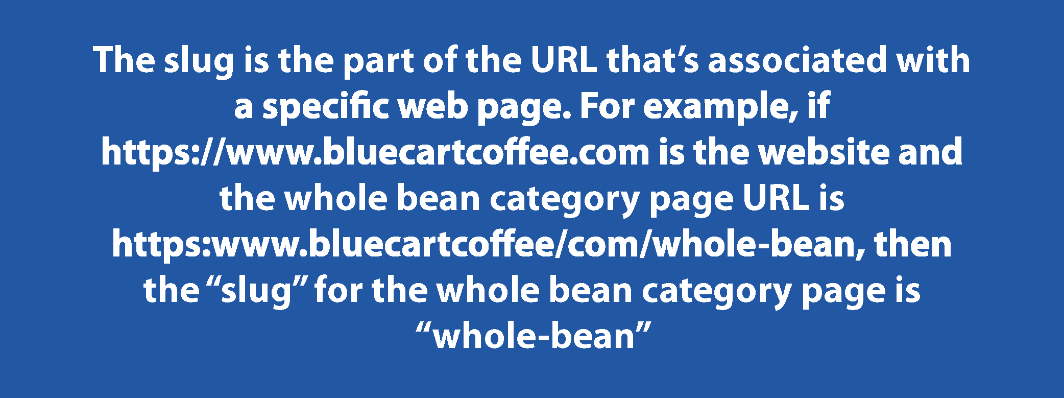 SEO URL slug definition