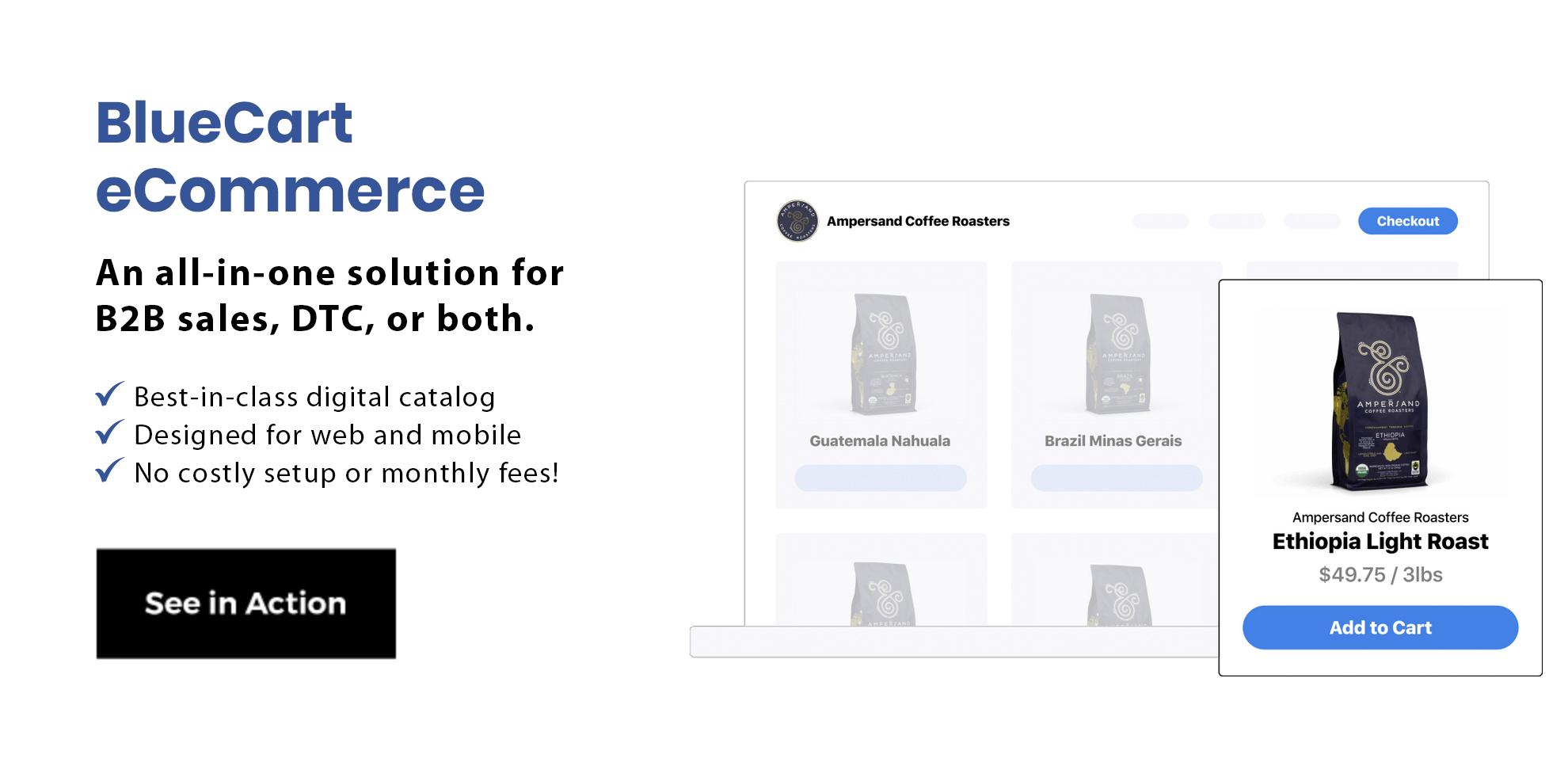 bluecart ecommerce demo request