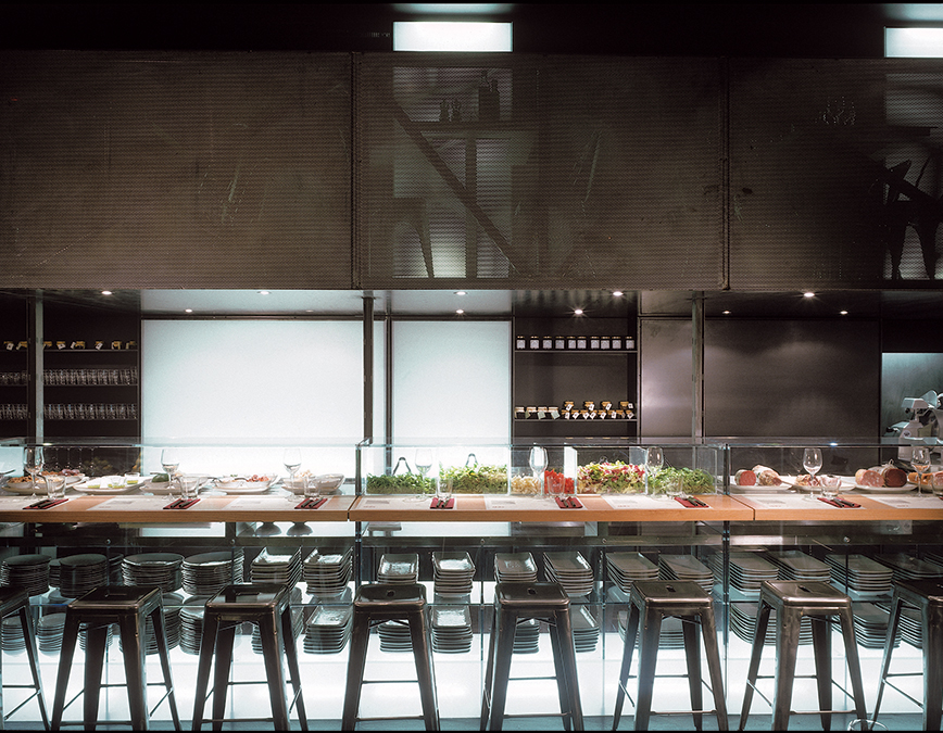 The design of obic restaurants obic mozzarella bar for Ristoranti design