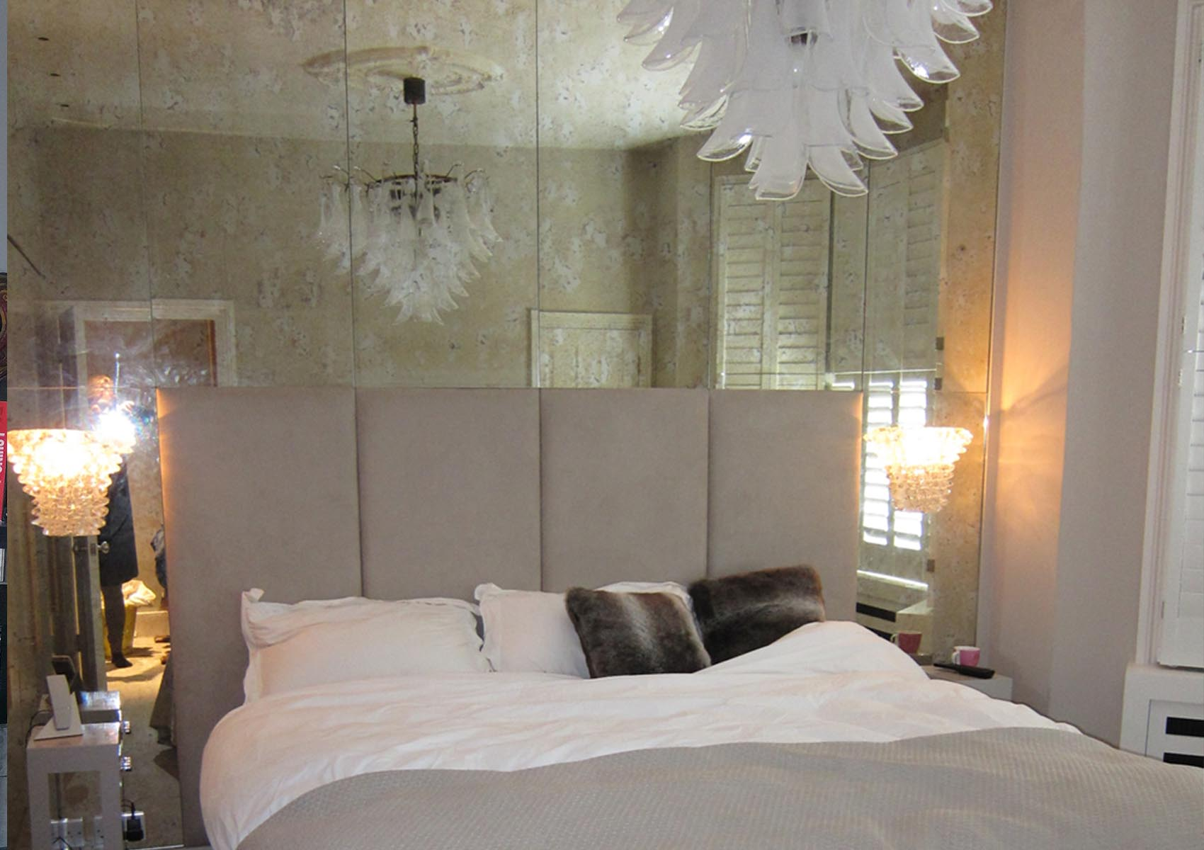Bedroom Wall Feature in panels