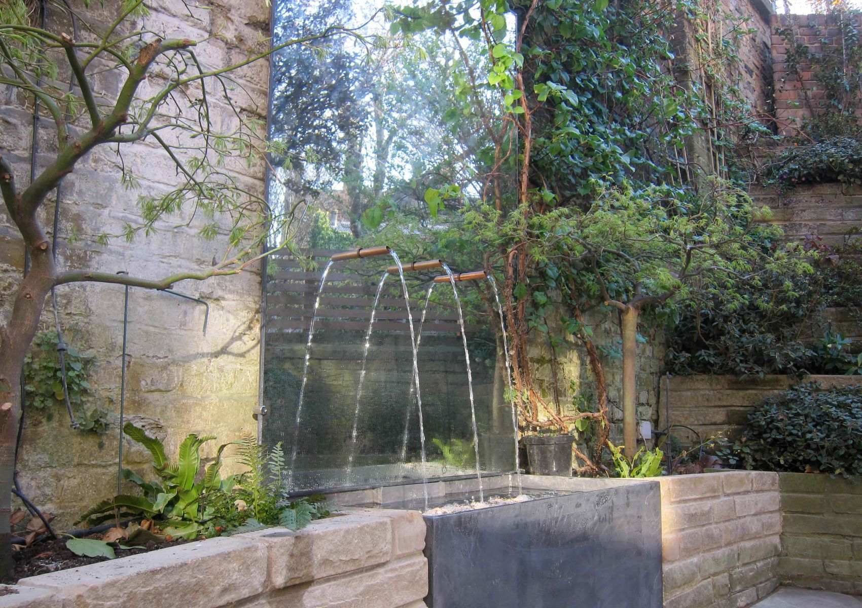 Original Vintage Exterior Wall Feature Fountain