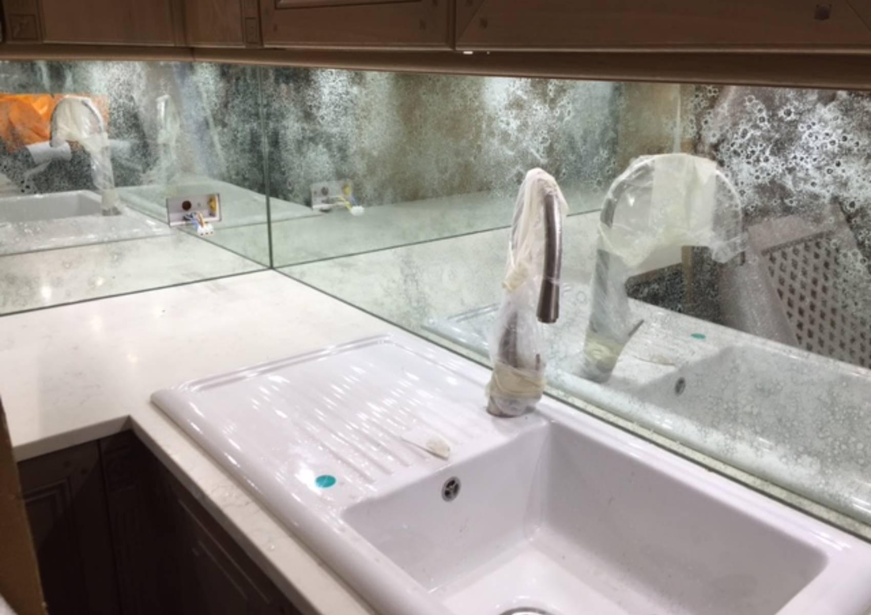 White vintage sink