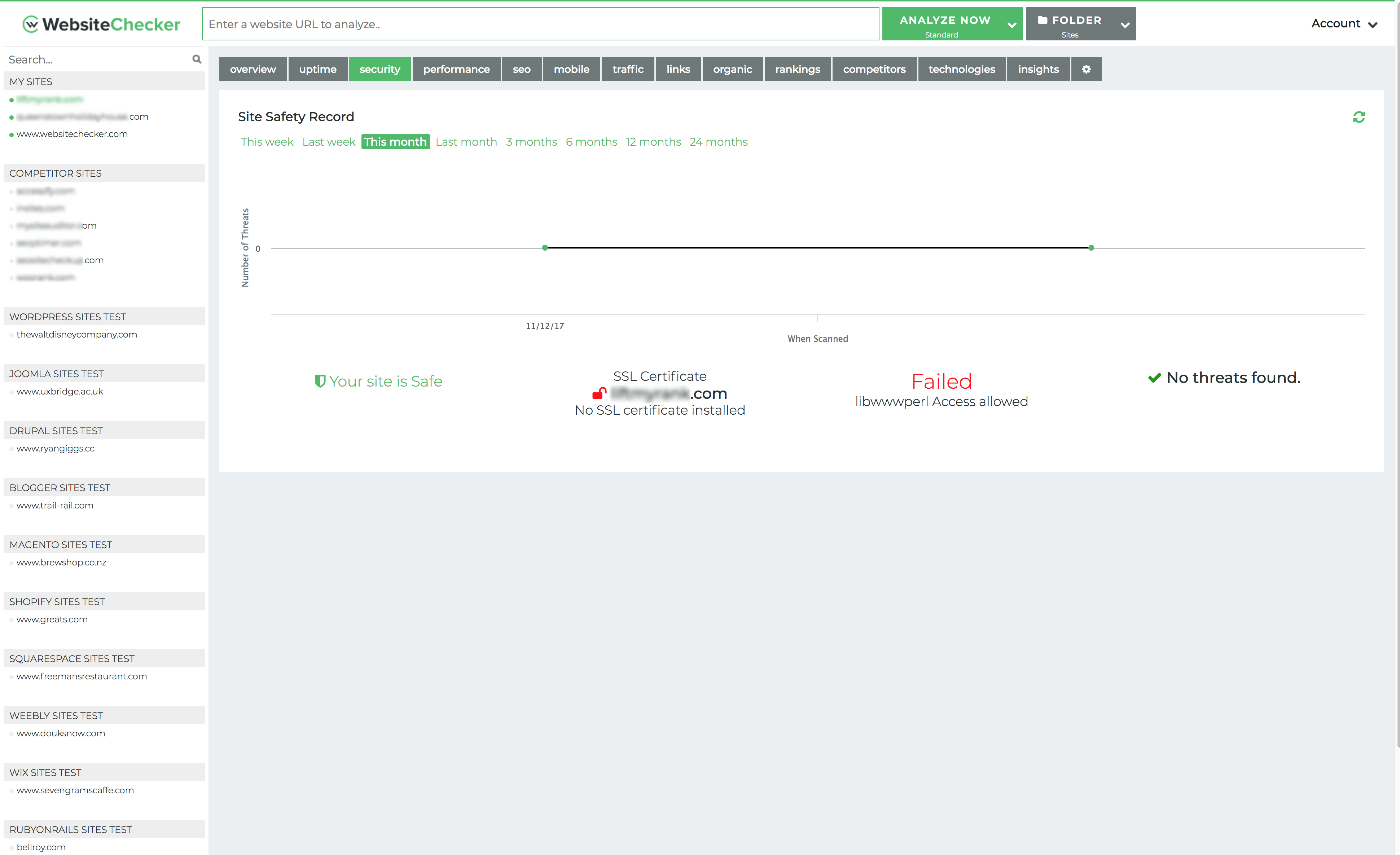 Website Virus Scanning