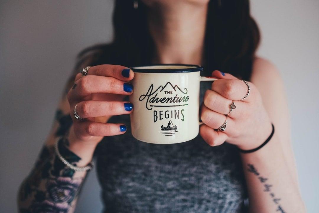 Women holding a mug