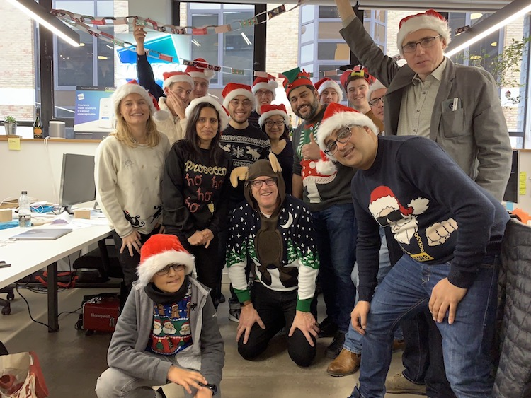 The team at Wrisk at Christmas time
