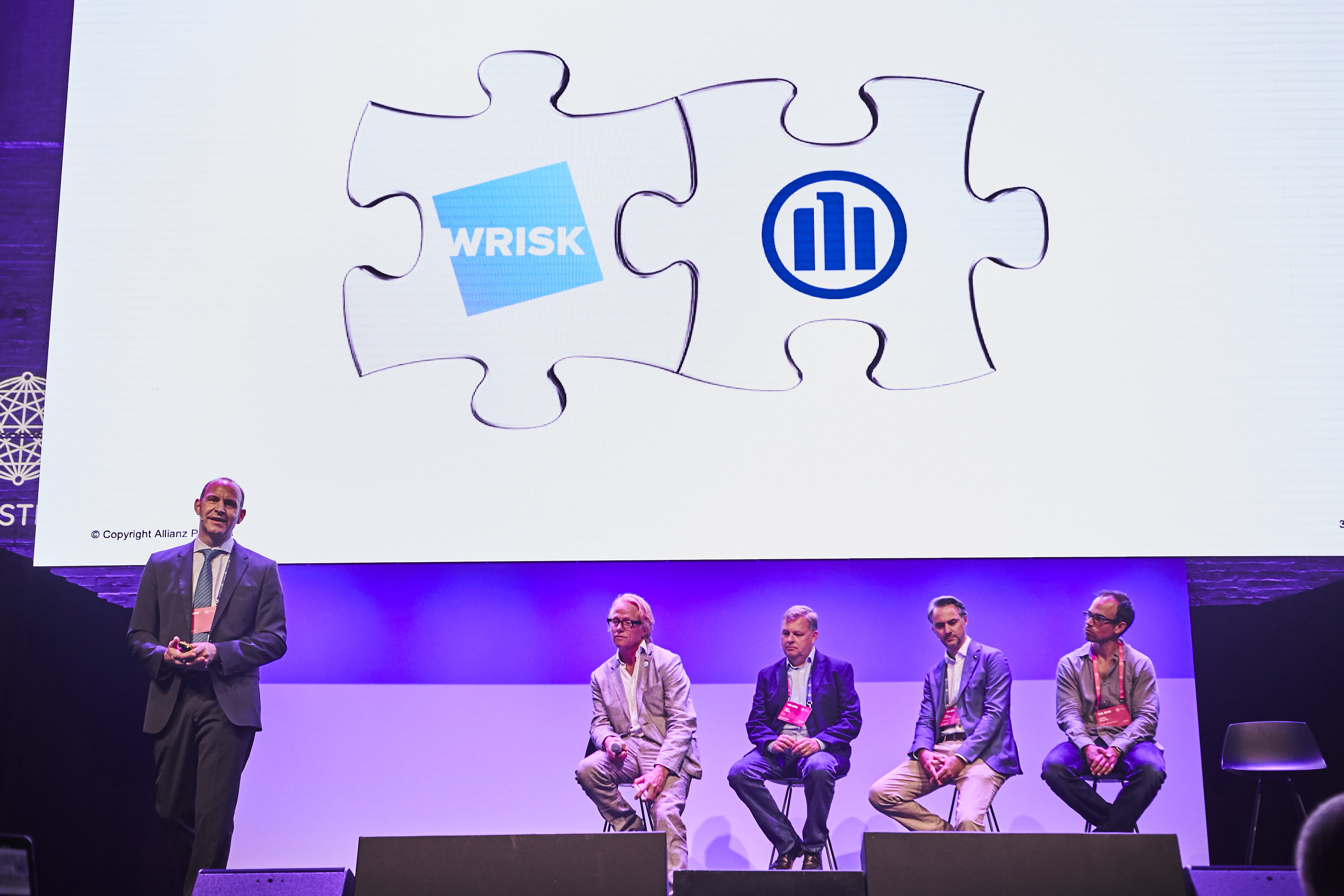 Wrisk partner with Allianz, on stage at DIA