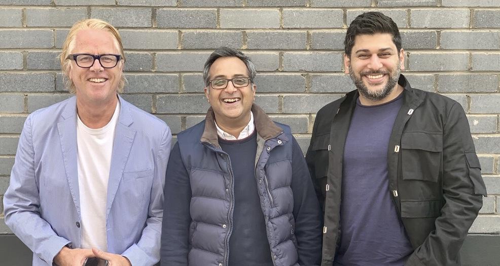 Wrisk leadership team: Niall Barton, Nimeshh Patel, Darius Kumana