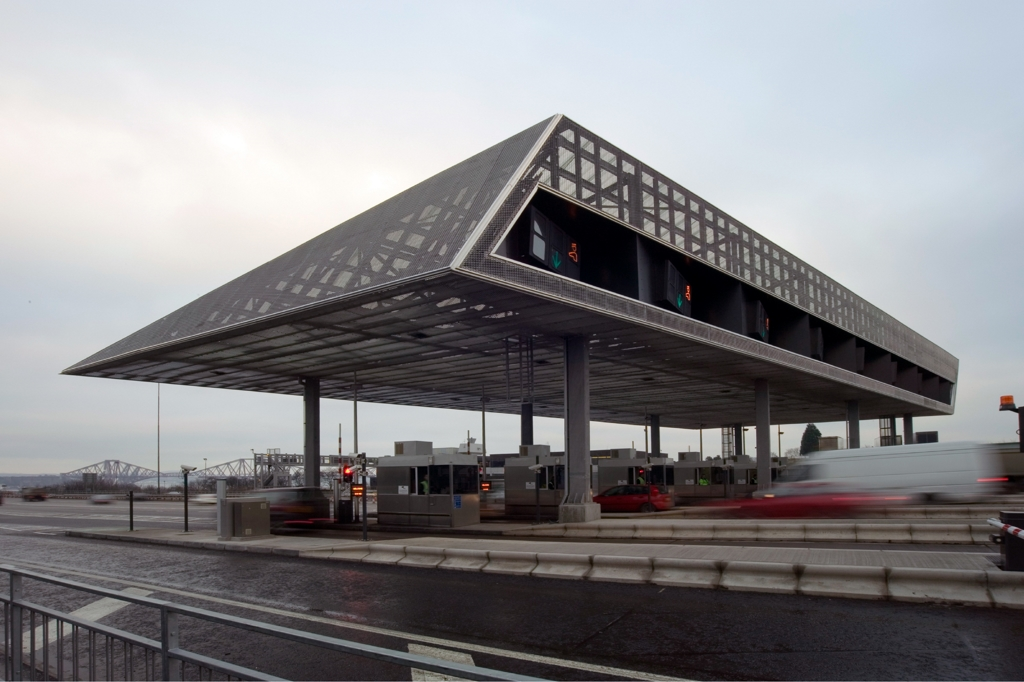 Forth Road Bridge Toll Plaza Edinburgh