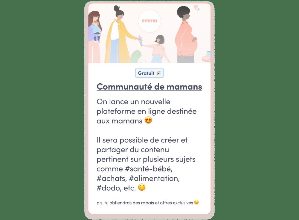 communauté de mamans