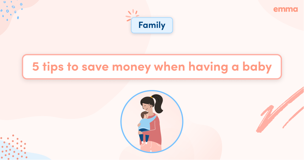 5 tips to save money when having a baby