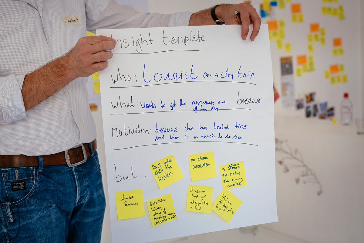 Using templates or a specific structure helps to develop key insights, but constantly ask yourself if every aspect of your insight is specific and clear enough and if it is backed by sufficient research data.