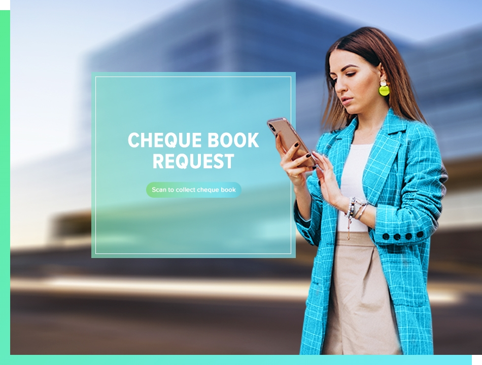 user requesting for a chequebook