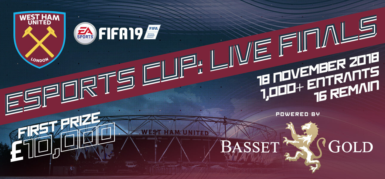 Star host announced for West Ham United eSports Cup Final, powered by Basset & Gold