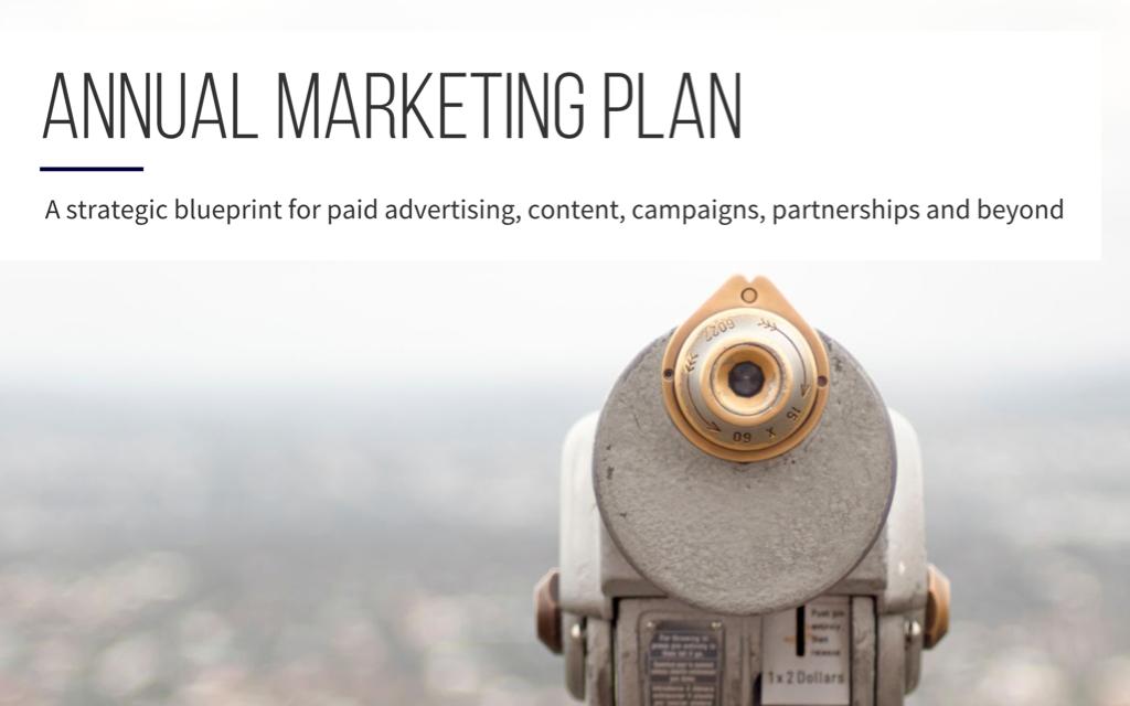 Create an Annual Marketing Plan in Minutes