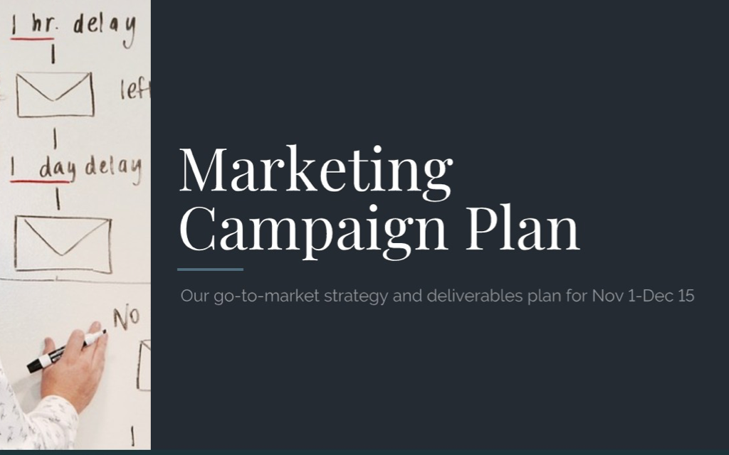 A Sample Marketing Plan for your Next Big Campaign