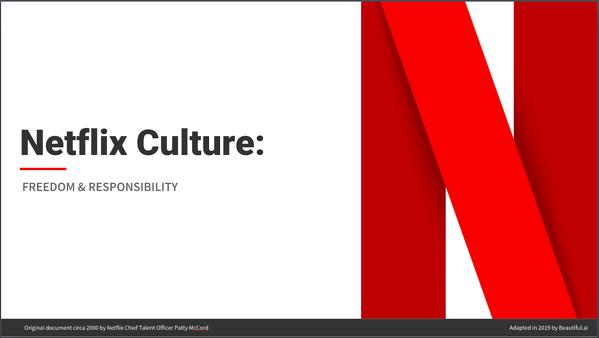 Netflix Culture Presentation Cover Page