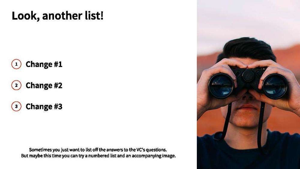 List Slide