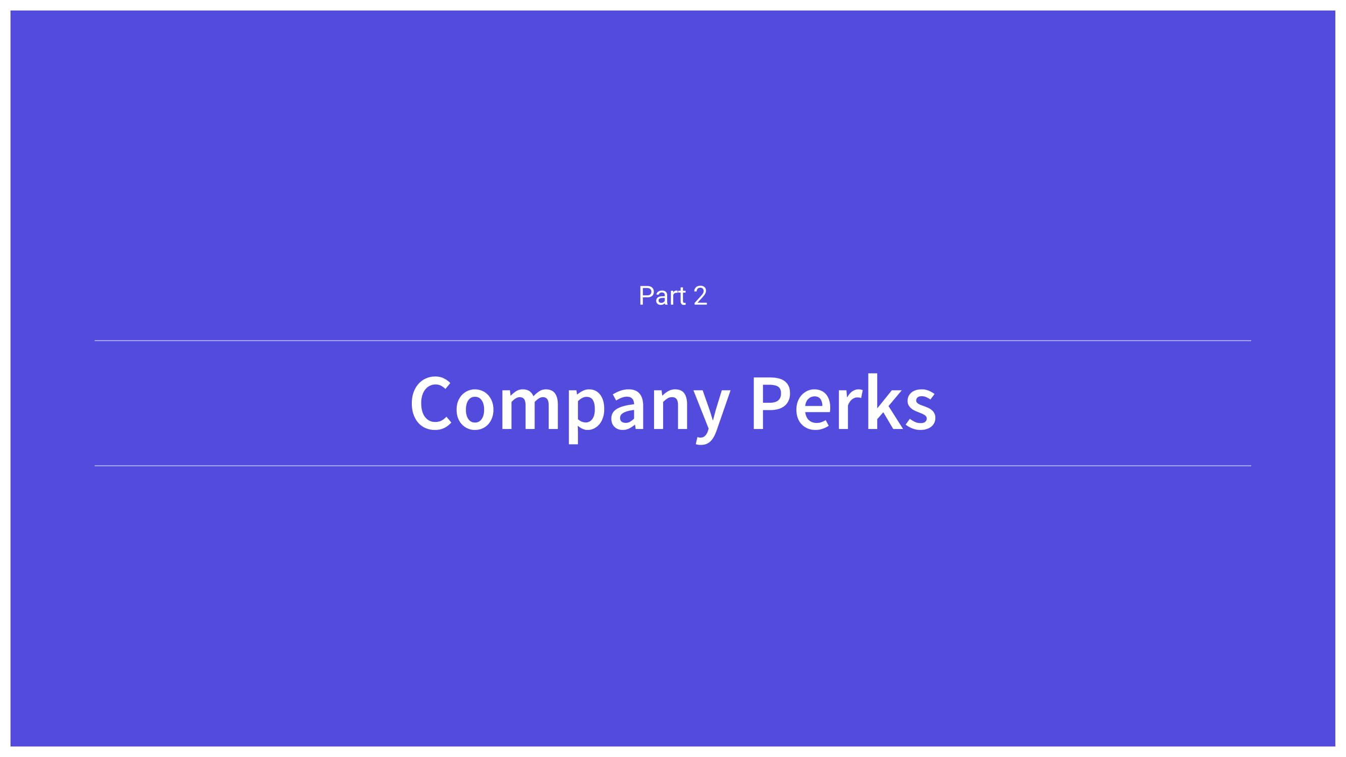 COMPANY PERKS