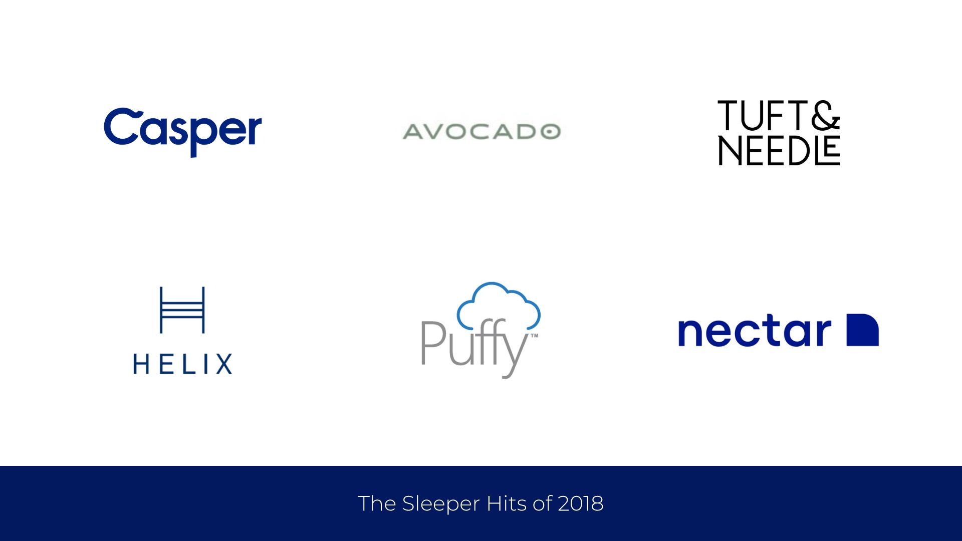 logo grid example showcasing mattress brands