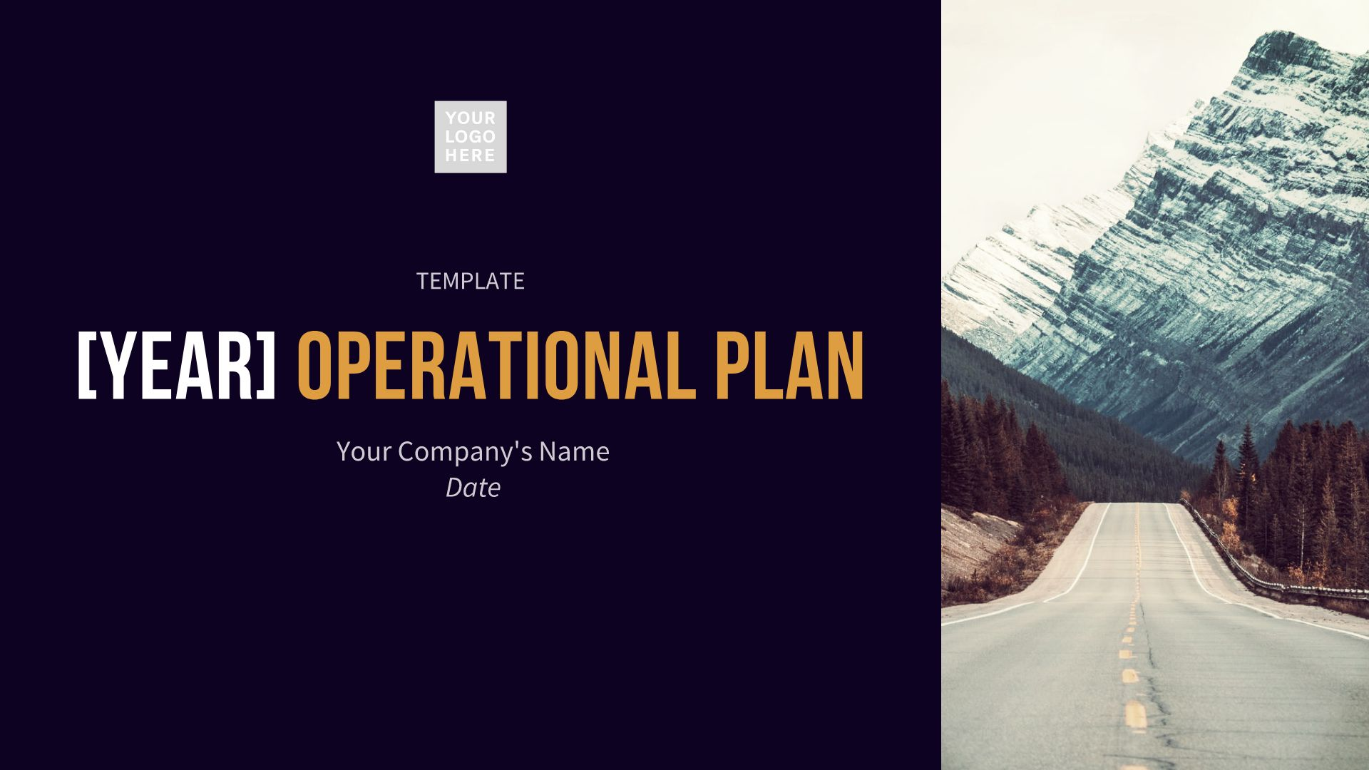Operations Plan Presentation Template