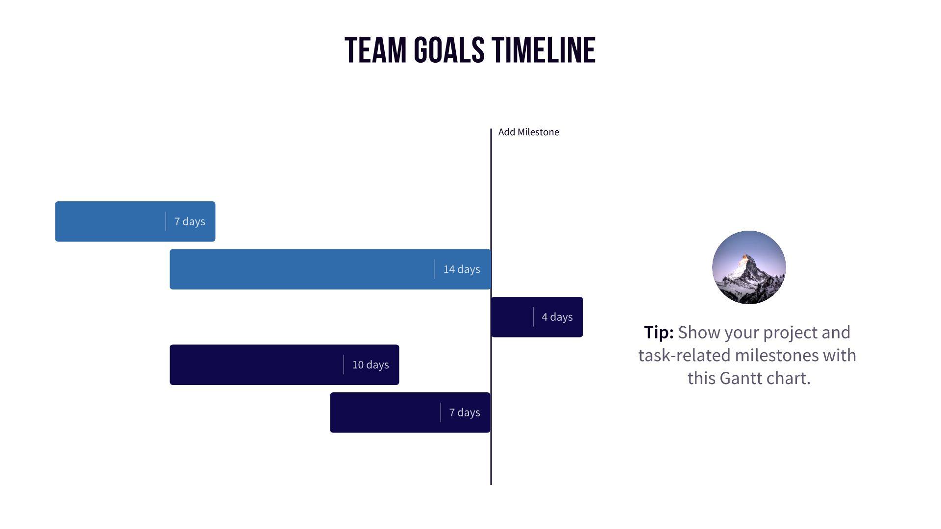 team goals timeline