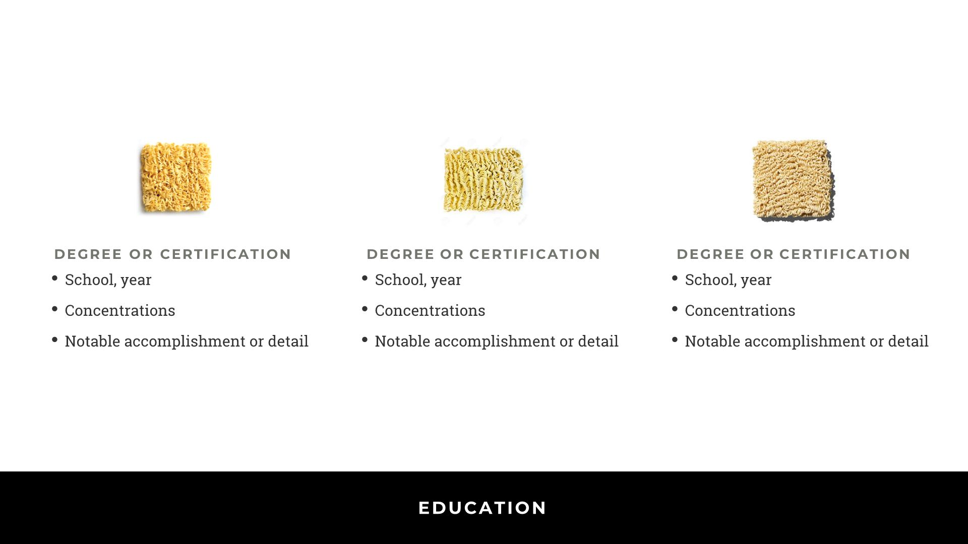 DEGREES/CERTIFICATION
